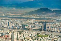 Alta vista del inVietnam della città di Da Nang Fotografie Stock