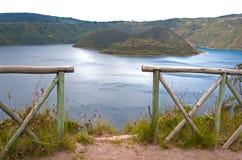 Alta vista del lago Cuicocha Immagine Stock