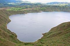 Alta vista del lago Cuicocha Immagine Stock Libera da Diritti