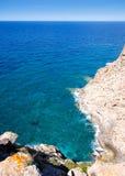 Alta vista del Mar Mediterraneo Balearic da Barbaria Fotografie Stock Libere da Diritti