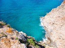 Alta vista del Mar Mediterraneo Balearic da Barbaria Fotografia Stock
