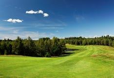 alta vista del punto del lanscape di golf Fotografia Stock