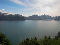Alta vista dell'acqua della penisola di kenai Fotografie Stock
