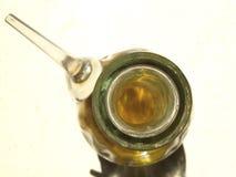 Alta vista dell'oliera di vetro Fotografia Stock Libera da Diritti