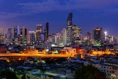 Alta vista della città Fotografie Stock Libere da Diritti