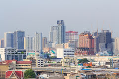 Alta vista della città Immagine Stock Libera da Diritti