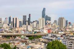 Alta vista della città Fotografie Stock