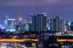 Alta vista della città Immagini Stock