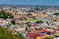Alta vista della città di Cholula - Cholula, Puebla, Messico Fotografie Stock Libere da Diritti