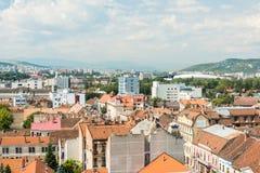 Alta vista della città di Cluj Napoca Fotografia Stock Libera da Diritti