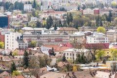 Alta vista della città di Cluj Napoca Immagini Stock Libere da Diritti