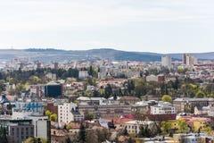Alta vista della città di Cluj Napoca Immagini Stock