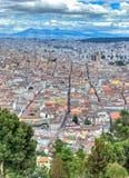 Alta vista della città di Quito Immagini Stock Libere da Diritti