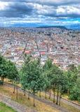 Alta vista della città di Quito Fotografie Stock Libere da Diritti