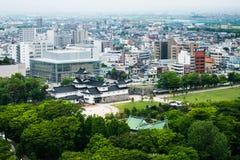 Alta vista della città di Toyama Immagini Stock Libere da Diritti