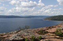 Alta vista della costa Fotografia Stock Libera da Diritti