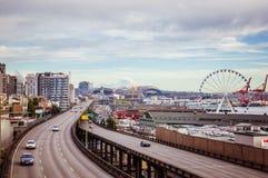 Alta vista della grande città Fotografia Stock Libera da Diritti
