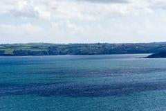 Alta vista della linea costiera di Cornovaglia Fotografia Stock Libera da Diritti