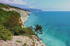 Alta vista della linea costiera di Mar Nero Immagini Stock
