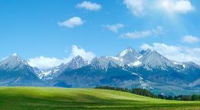 Alta vista della molla di Tatras (Slovacchia) Immagine Stock Libera da Diritti