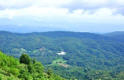 Alta vista della montagna Fotografie Stock Libere da Diritti
