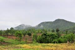 Alta vista della montagna Fotografia Stock