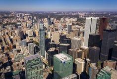 Alta vista della parte di Toronto del centro Fotografie Stock Libere da Diritti