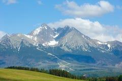 Alta vista della sorgente di Tatras (Slovacchia). Fotografia Stock Libera da Diritti