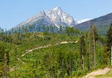 Alta vista della sorgente di Tatras (Slovacchia). Immagini Stock Libere da Diritti