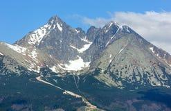 Alta vista della sorgente di Tatras (Slovacchia). Fotografia Stock