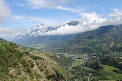 Alta vista della valle di Aosta Fotografia Stock Libera da Diritti