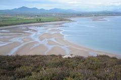 Alta vista delle acque della penisola di Llyn Fotografia Stock Libera da Diritti