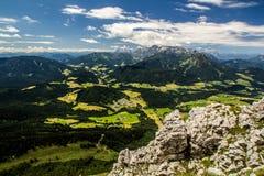 Alta vista delle alpi Fotografia Stock Libera da Diritti