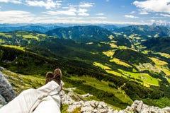 Alta vista delle alpi Fotografie Stock Libere da Diritti