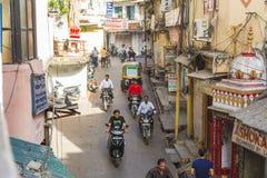Alta vista delle vie dell'India Fotografie Stock Libere da Diritti