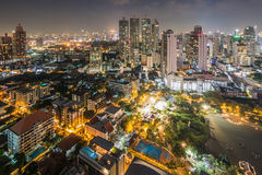 Alta vista di Bangkok a vicino Fotografia Stock Libera da Diritti