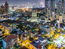 Alta vista di Bangkok a vicino Immagine Stock Libera da Diritti