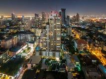 Alta vista di Bangkok a vicino Fotografie Stock