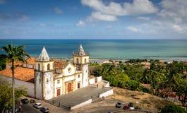 Alta vista di Olinda e della cattedrale del Se - Pernambuco, Brasile Fotografia Stock Libera da Diritti