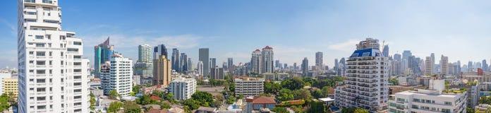 Alta vista di panorama della città Fotografia Stock