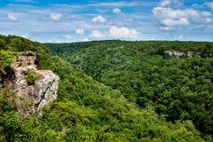 Alta vista di poco canyon Federal Reserve del fiume Fotografia Stock
