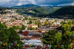 Alta vista di San Cristobal de Las Casas - il Chiapas, Messico Immagini Stock Libere da Diritti