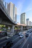 Alta vista di trasporto della città Fotografia Stock Libera da Diritti