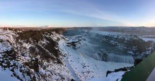 Alta vista di un fiume in Islanda Immagini Stock