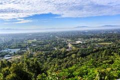 Alta vista a Flora Ratchaphruek reale in Chiang Mai, Tailandia Immagini Stock