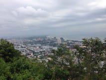 Alta vista per tirare città in secco Immagini Stock Libere da Diritti