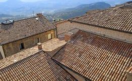 Alta vista superiore delle costruzioni tradizionali della città Fotografie Stock Libere da Diritti