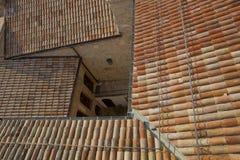 Alta vista superiore delle costruzioni tradizionali della città Immagine Stock Libera da Diritti