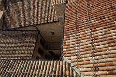 Alta vista superiore delle costruzioni tradizionali della città Fotografia Stock Libera da Diritti