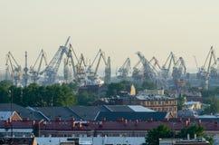 Alta visualizzazione il porto di St Petersburg, Fotografie Stock Libere da Diritti
